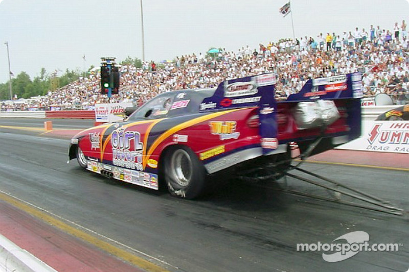 Funny Car driver Laurie Cannister