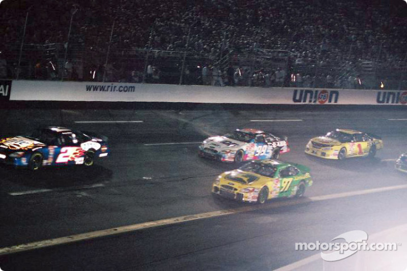 Rusty Wallace leading the pack