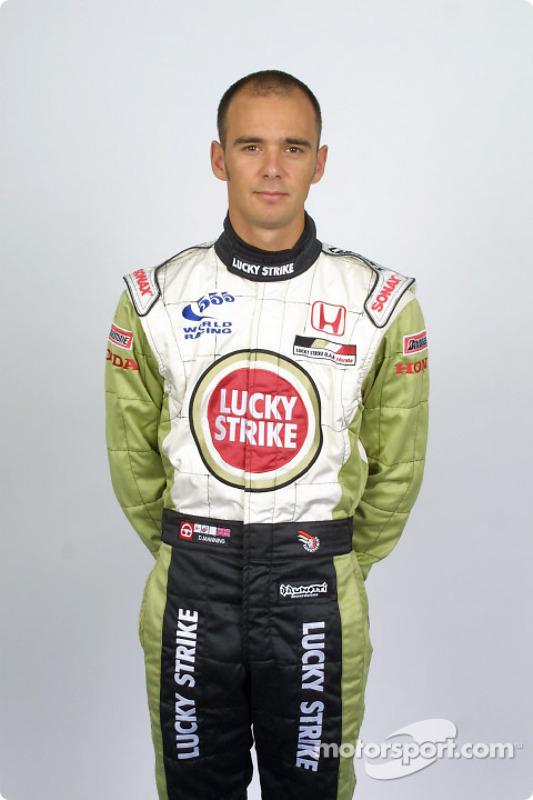 Test driver Darren Manning