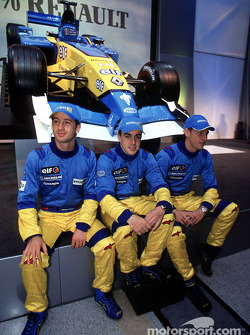 Jarno Trulli, Fernando Alonso and Jenson Button
