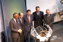 Flavio Briatore, Christian Contzen, Patrick Faure, Jean-Jacques His and Mike Gascoyne