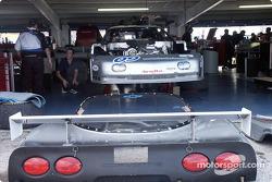 Corvette in the garage area