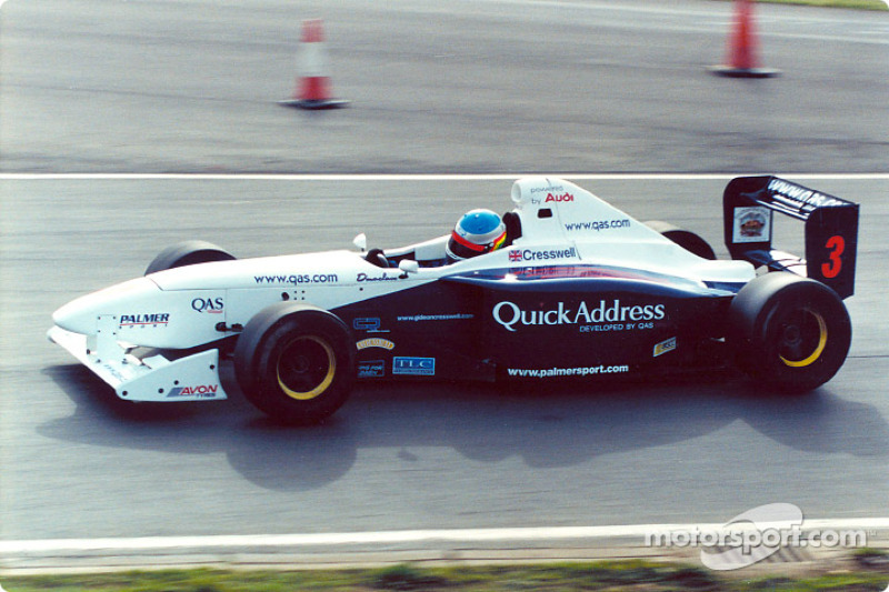 Gideon Cresswell in the 2002 Formula Palmer Audi Championship