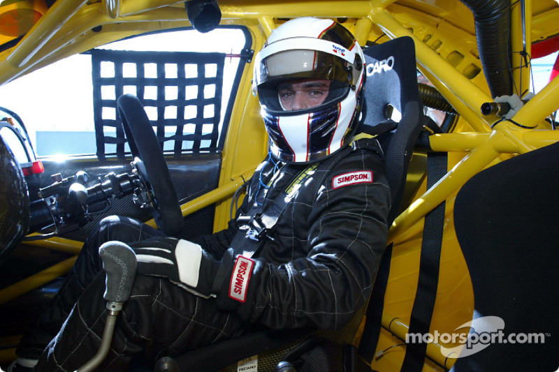 Brazilian Max Wilson, who will race a V8 Supercar in Australia this year in the cockpit of his Ford Falcon