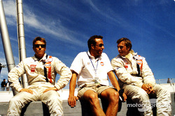 Stefan Johansson, Tom Coronel and Patrick Lemarié before the start