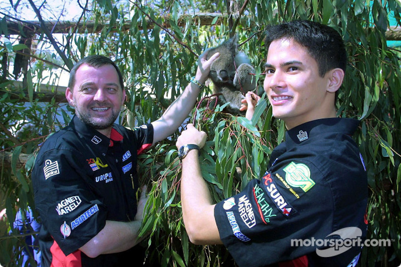 Visit at the Melbourne Zoo: Paul Stoddart and Alex Yoong