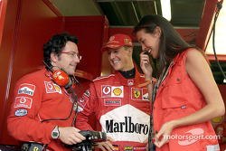 Luca Baldisserri, Michael Schumacher and the lovely Megan Gale