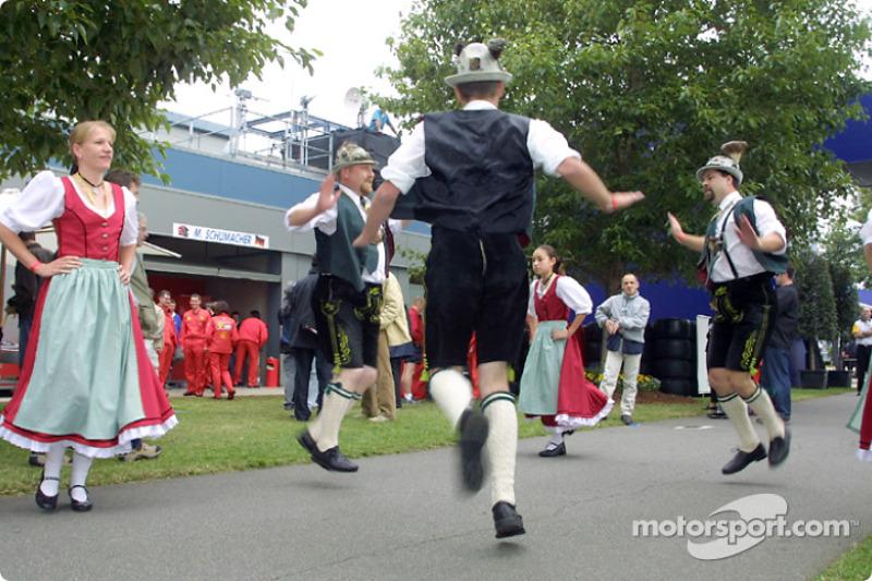 Michael Schumacher's fan club was quite active on Saturday