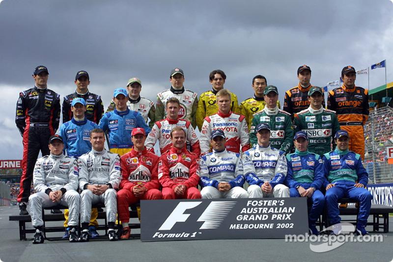 Familiefoto: de klas van 2002 in de Formule 1