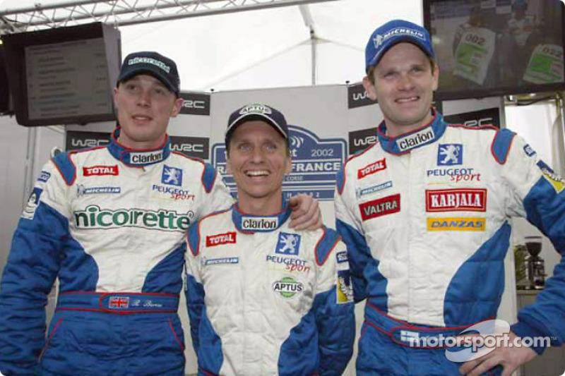 Richard Burns, Gilles Panizzi and Marcus Gronholm