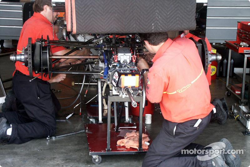 Work in garage area