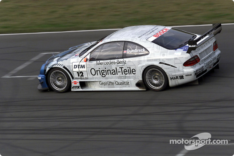 Peter Dumbreck driving the Mercedes-Benz CLK-DTM 2001, entered by the Original-Teile AMG-Mercedes team