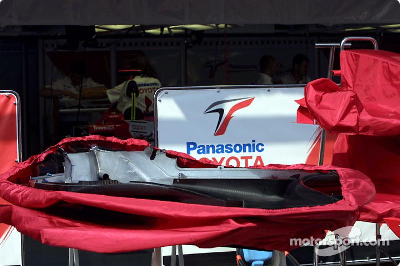 Área de garage del Equipo Toyota