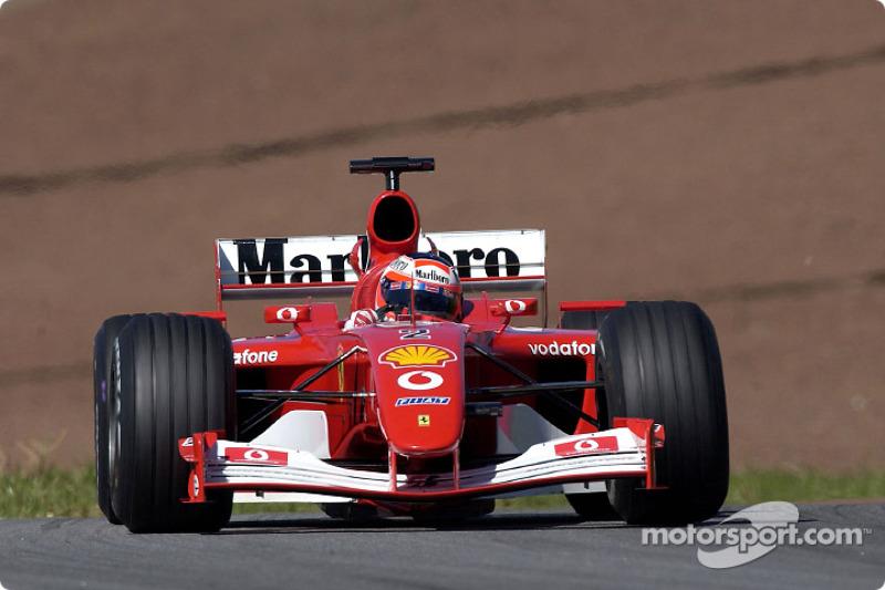 Rubens Barrichello pendant le warmup