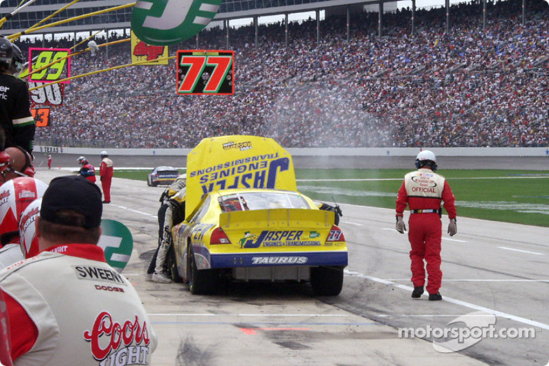 Dave Blaney in trouble