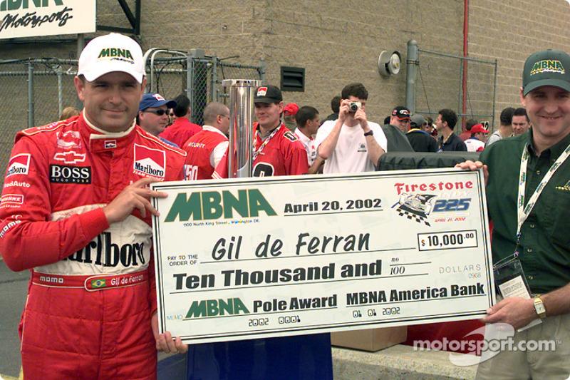 Gil de Ferran and the Pole Award