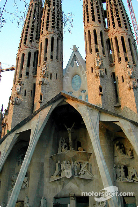 The famous Sagrada Familia cathedral of Antonio Gaudi