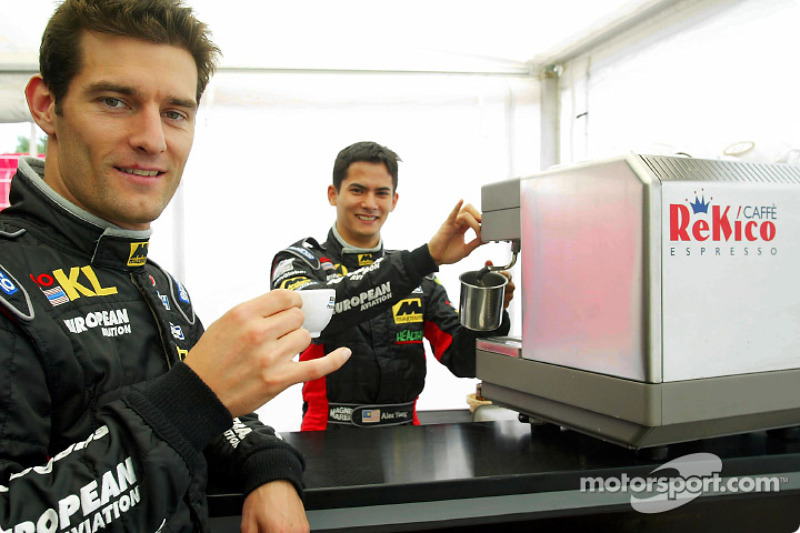 Morning coffee for Alex Yoong and Mark Webber