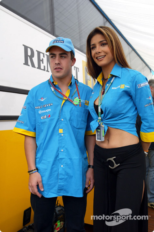 Fernando Alonso and Mexican pop star Patricia Manterola