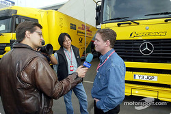 Interview in the paddock