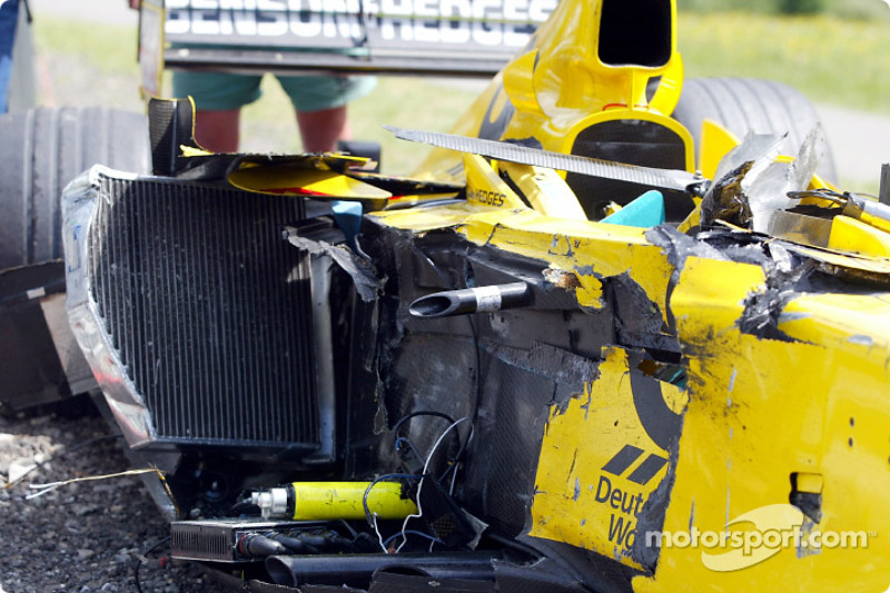 Takuma Sato's Jordan after the accident