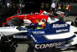Rubens Barrichello and Ralf Schumacher