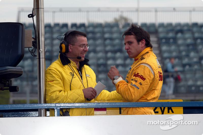 El jefe técnico Albert Deuring y Christian Abt