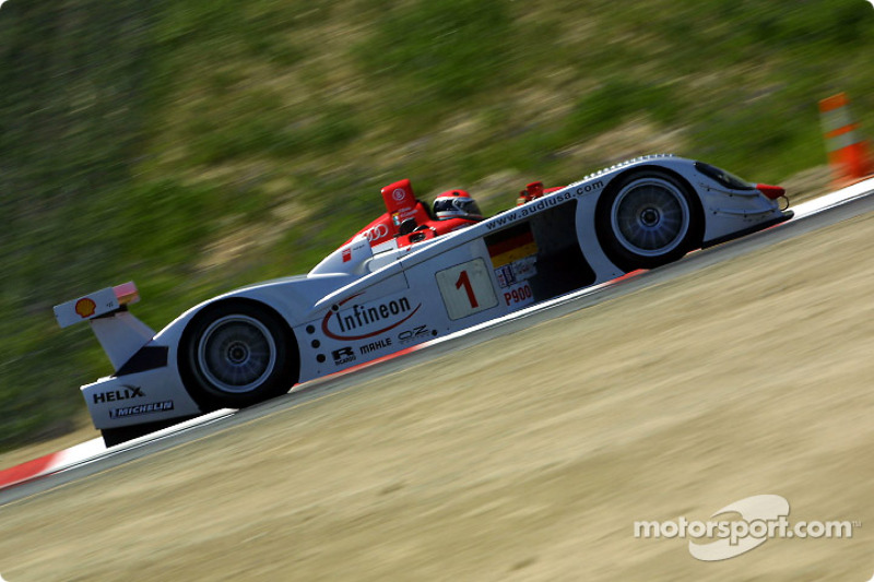 Emanuele Pirro in the Audi R8 #1