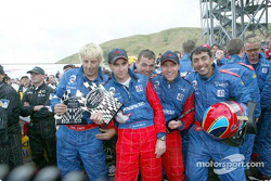 Team Panoz celebrating: Bryan Herta and Bill Auberlen