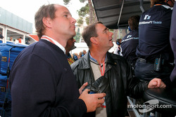 Gerhard Berger and Nigel Mansell