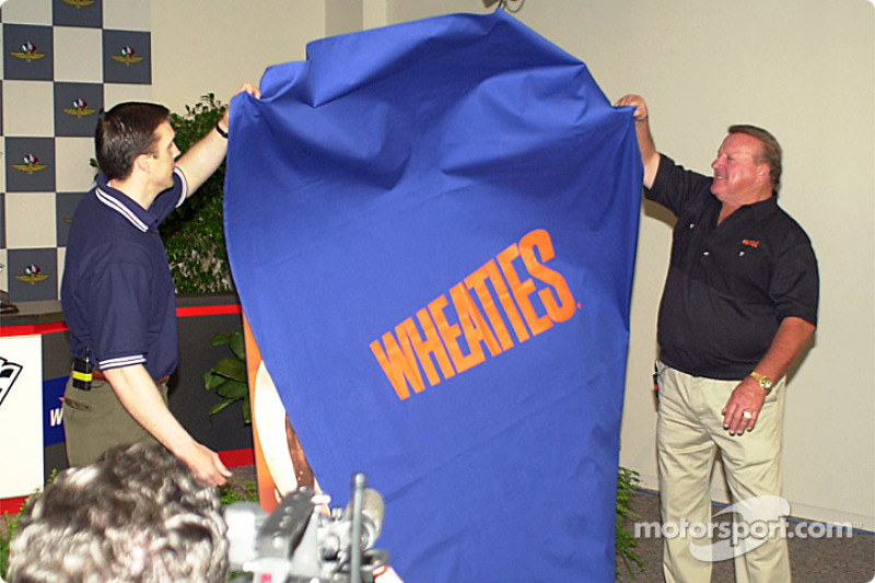 A.J. Foyt unveils a special Wheaties box cover