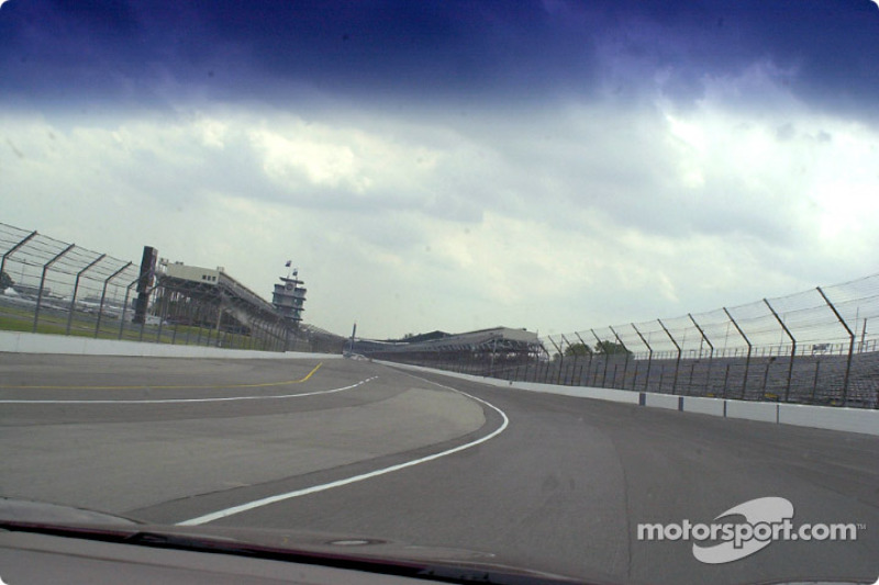 Coming out of turn 4