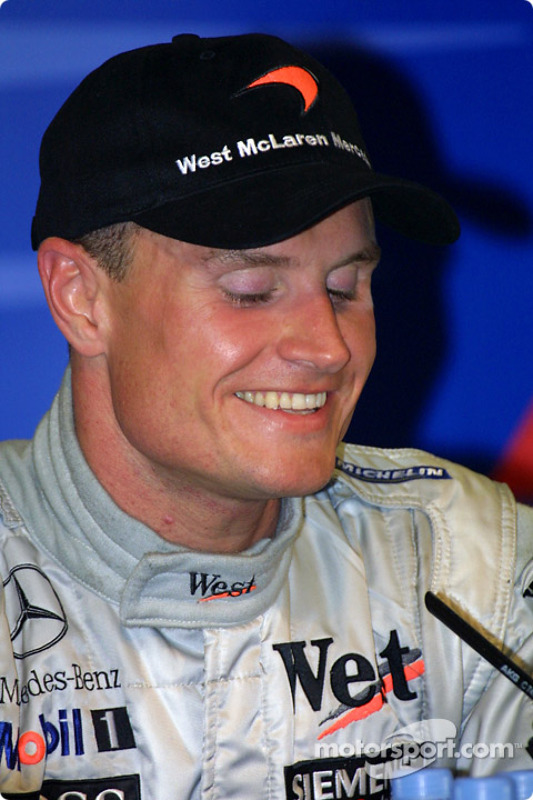 Winners' press conference: race winner David Coulthard