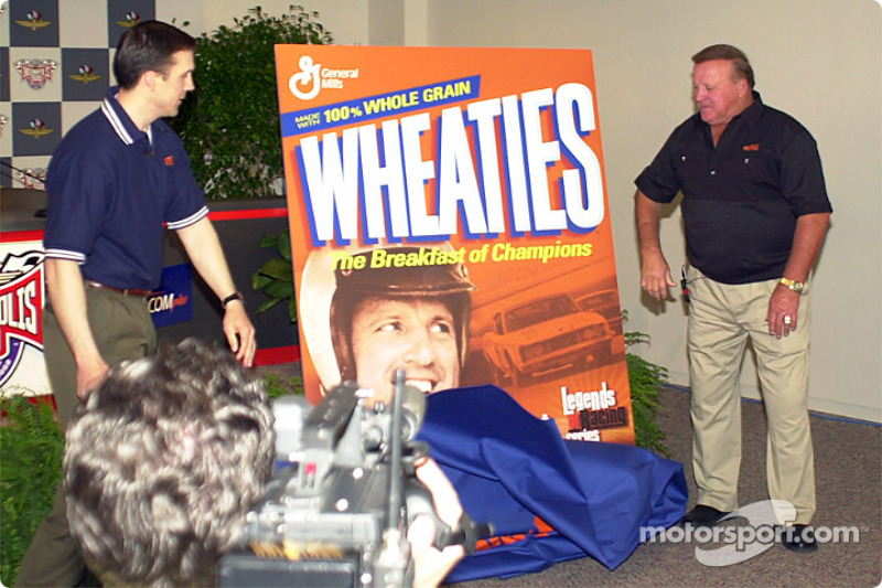 A.J. Foyt finally sees his picture on a Wheaties box.