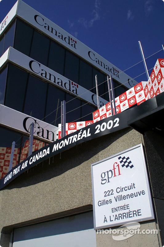 La tour de contrôle du Circuit Gilles-Villeneuve