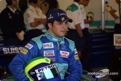 Felipe Massa posando