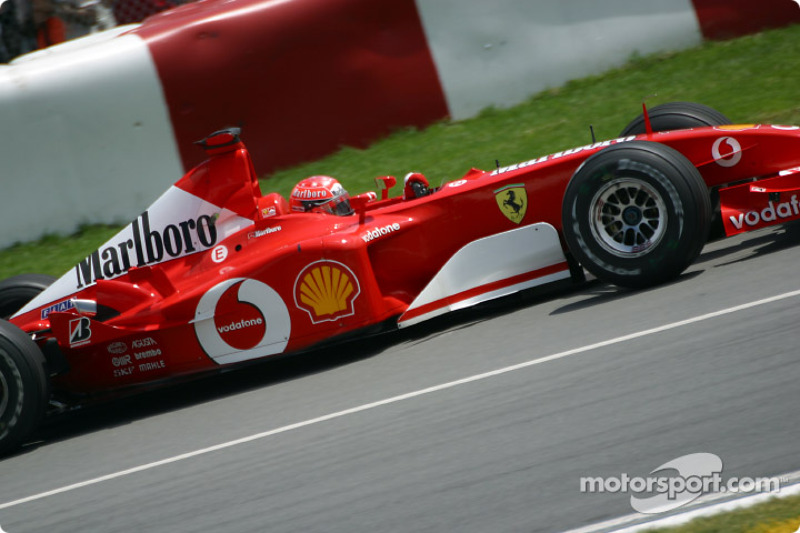 Michael Schumacher going to the pre-grid