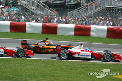 First corner: Enrique Bernoldi and Mika Salo
