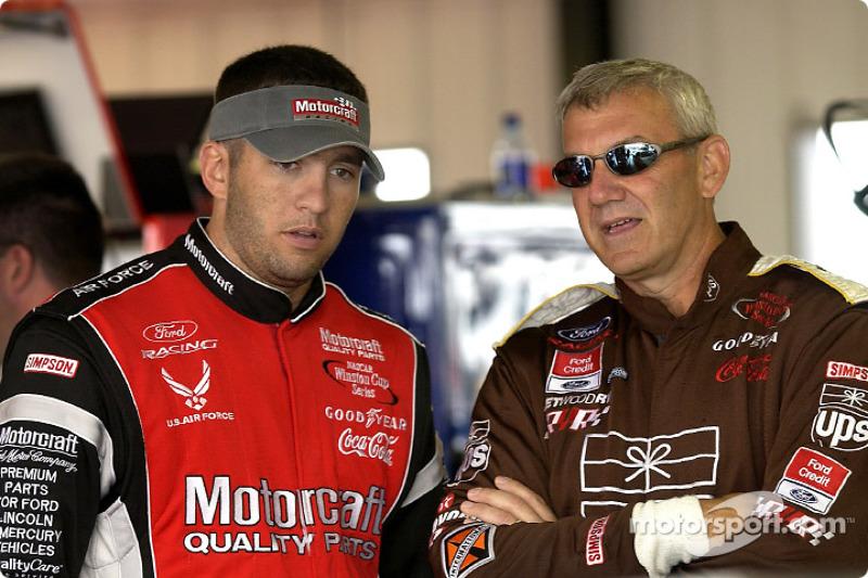 Elliott Sadler and Dale Jarrett