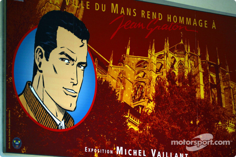The movie star for the 2002 edition of the 24 Hours of Le Mans: Michel Vaillant