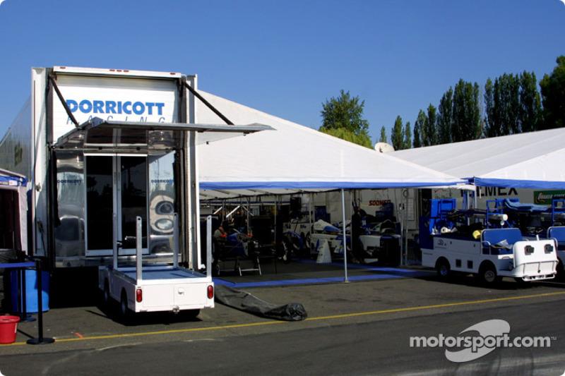 Dorricott Racing pit area