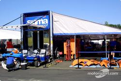 Les stands Sigma Autosport