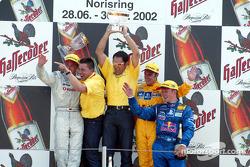 The podium: race winner Laurent Aiello with Bernd Schneider, Albert Deuring, Hans-Jürgen Abt and Mattias Ekström