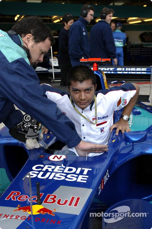 Malaysian driver Mohamed Fairuz Mohamed Fauzy visting Team Sauber