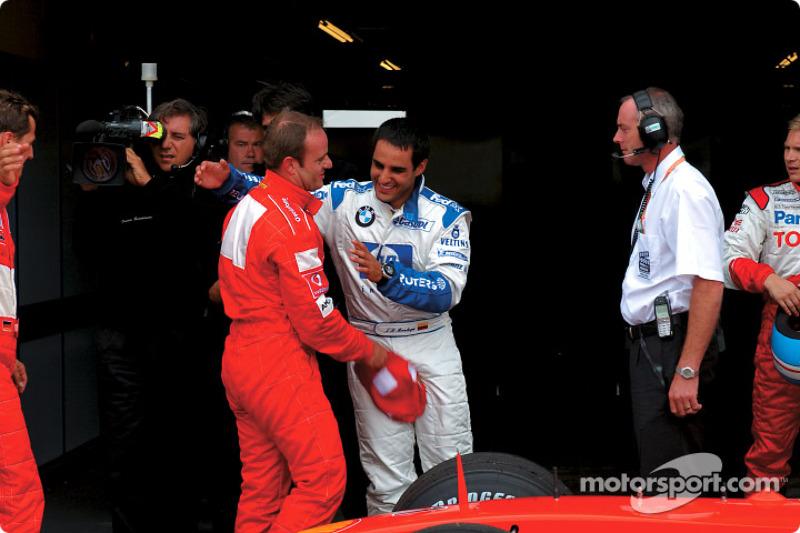 Rubens Barrichello and Juan Pablo Montoya
