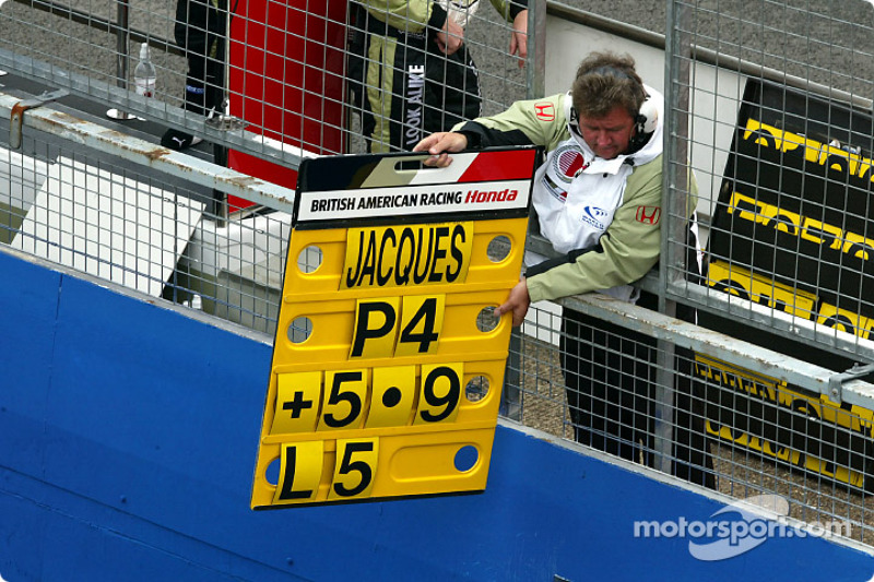 First points of the season for Jacques Villeneuve and Team BAR