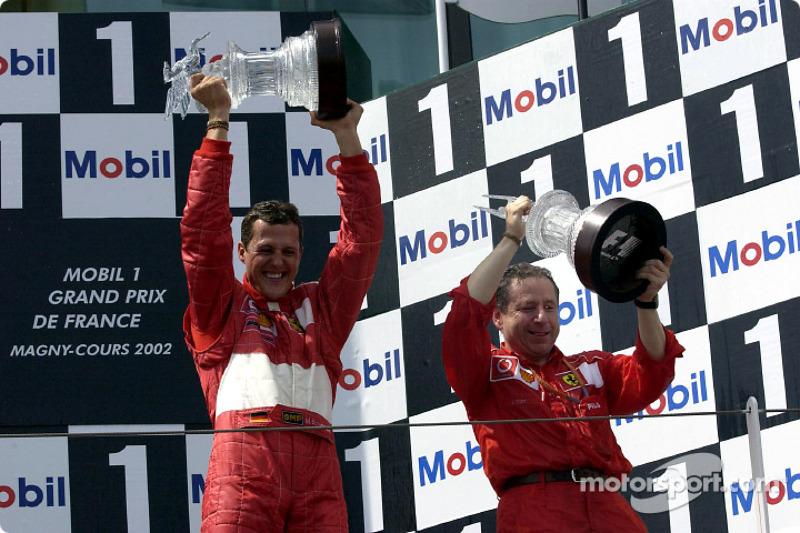 100% des podiums sur une saison : 2002