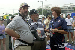 Motorsport.com's Ken Plotkin and Rich Romer with Chris Syfret of Panoz