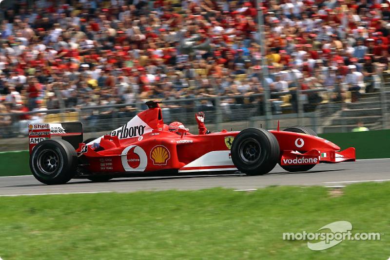 3º Michael Schumacher - 24 carreras- De Hungría 2001 a Malasia 2003 - Ferrari