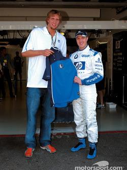 Dirk Nowitzki with Ralf Schumacher